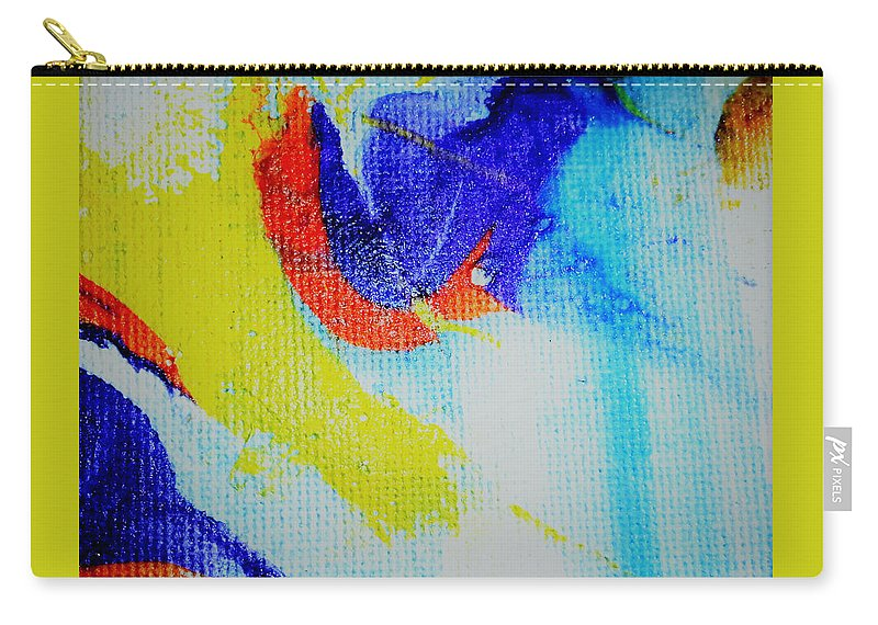 Acrylic Carry-all Pouch featuring the painting Wavey by Jan Pellizzer