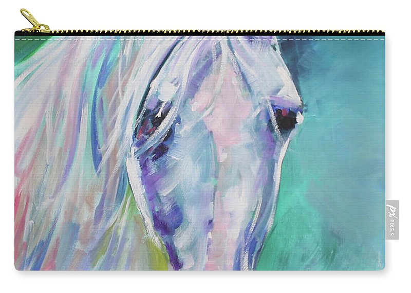 Equestrian Carry-all Pouch featuring the painting Way Beyond by Alan Metzger
