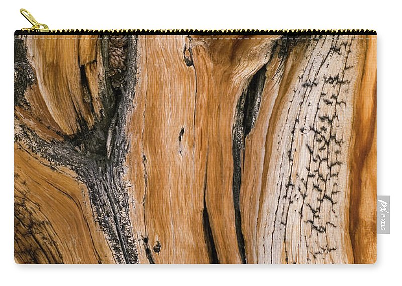 Weathered Carry-all Pouch featuring the photograph Weathered Wood Of Ancient Bristlecone by Kevin Schafer