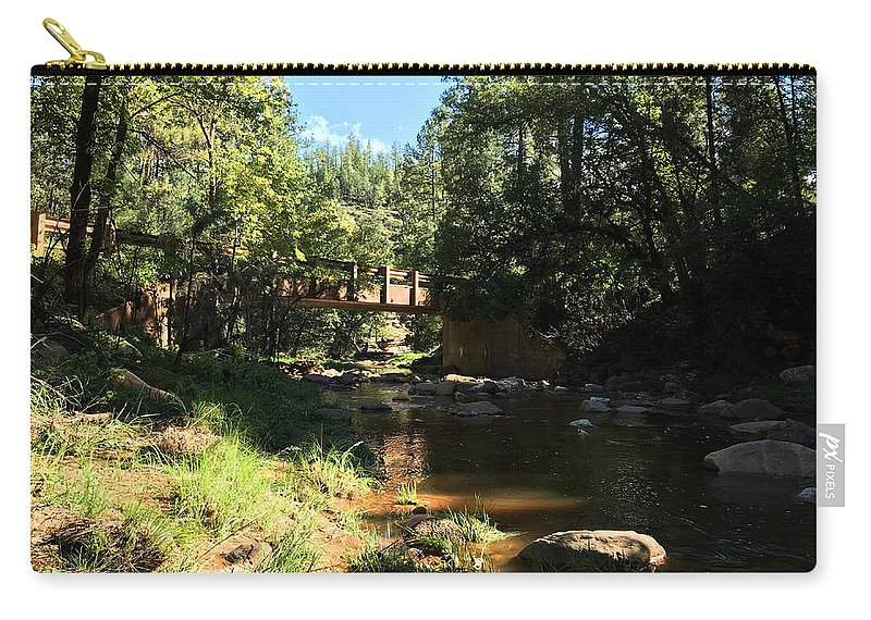 Nature Carry-all Pouch featuring the photograph Webber Creek Bridge by Blake Wesley