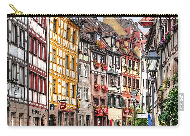 Outdoors Carry-all Pouch featuring the photograph Weissgerbergasse, Nuremberg by Habub3