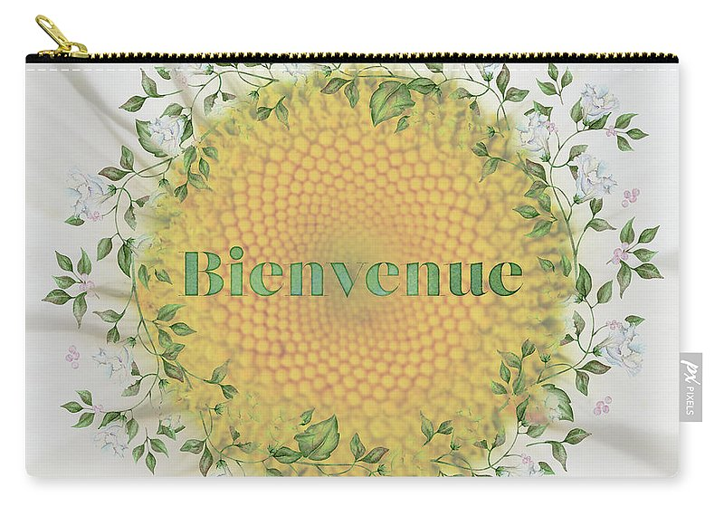 Photography Carry-all Pouch featuring the digital art Welcome - Bienvenue by Terry Davis