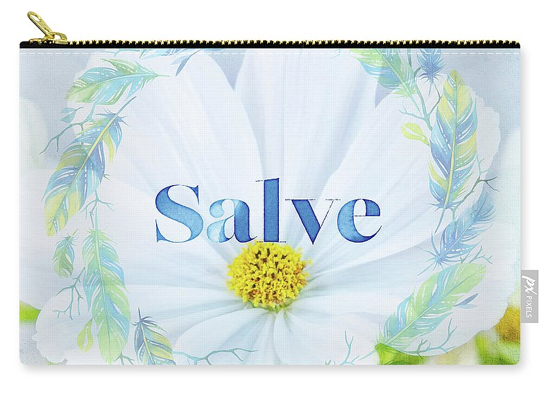 Photography Carry-all Pouch featuring the digital art Welcome - Salve by Terry Davis