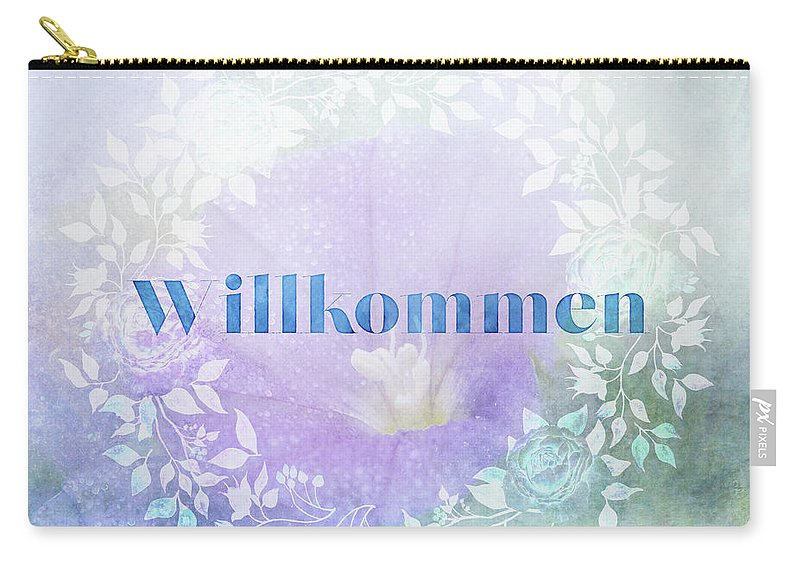 Photography Carry-all Pouch featuring the digital art Welcome - Willkommen by Terry Davis