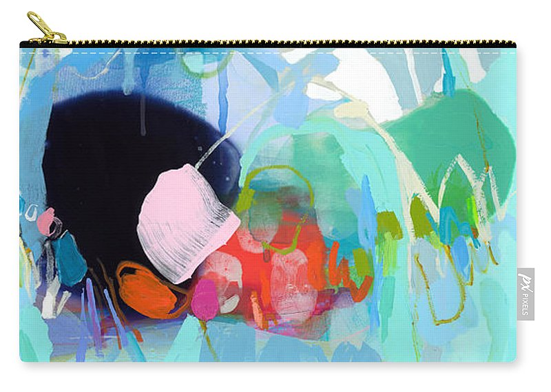 Abstract Carry-all Pouch featuring the painting West Coast Wanderlust by Claire Desjardins