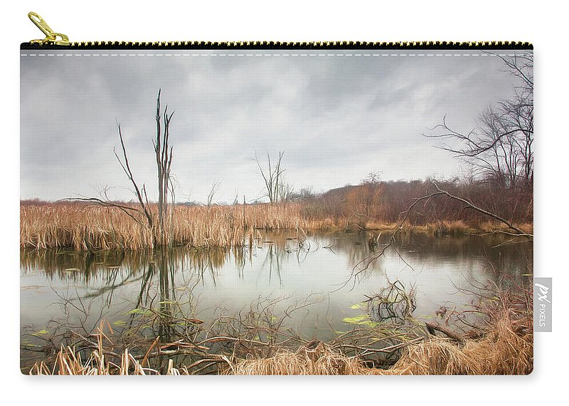 Wetlands Carry-all Pouch featuring the photograph Wetlands On A Dreary Day by Tom Mc Nemar