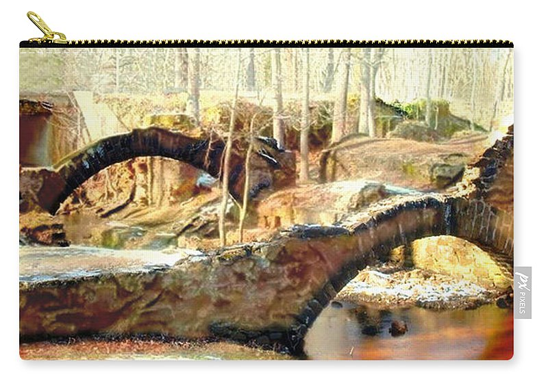 Carry-all Pouch featuring the mixed media Weymouth Furnace 1802-1862 by Jas Stem