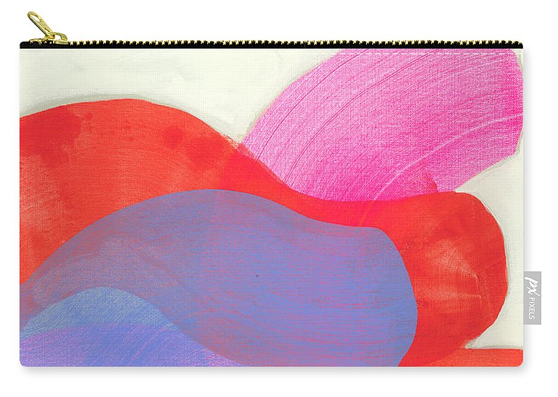 Abstract Carry-all Pouch featuring the painting What To Say? by Claire Desjardins
