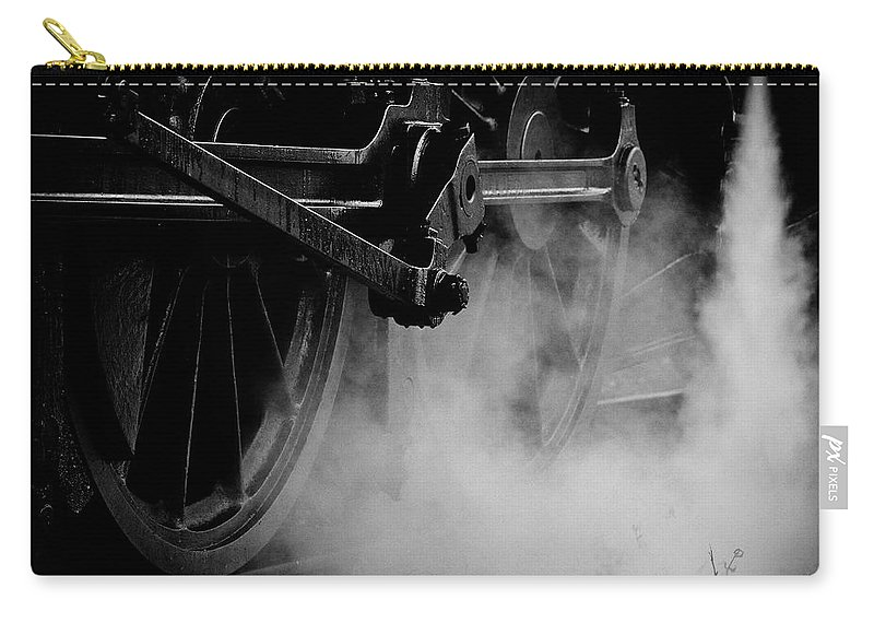 Vehicle Part Carry-all Pouch featuring the photograph Wheels State Railway Of Thailand Srt by Nobythai