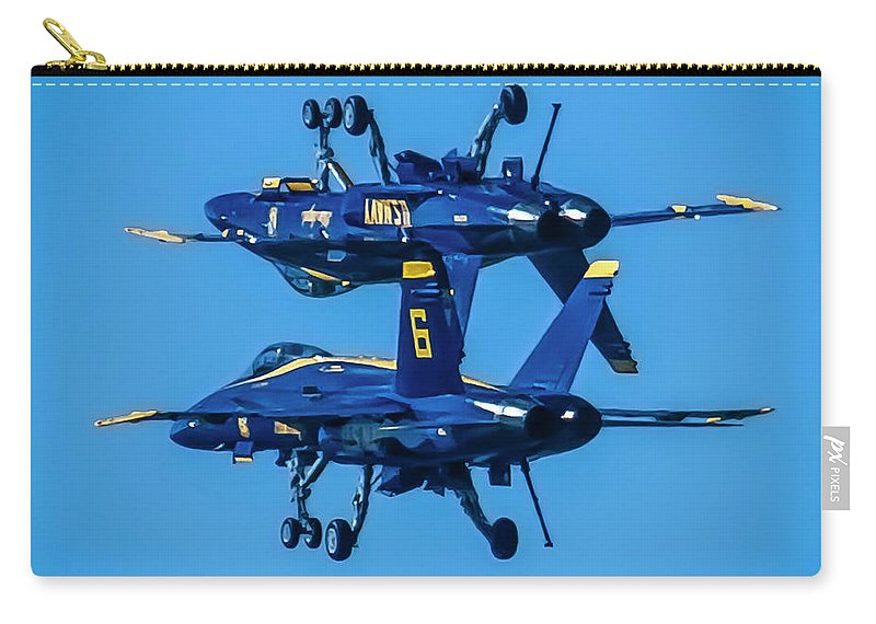 Airshow Carry-all Pouch featuring the photograph Which Way Is Up by Sean O'Cairde