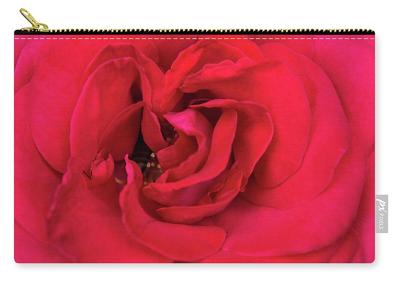 Red Carry-all Pouch featuring the photograph Whisper Of Passion by Malina Catoiu