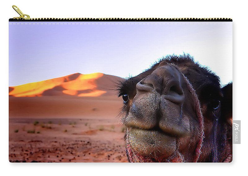 Working Animal Carry-all Pouch featuring the photograph Whoa Camel by Image By Craig Huxtable