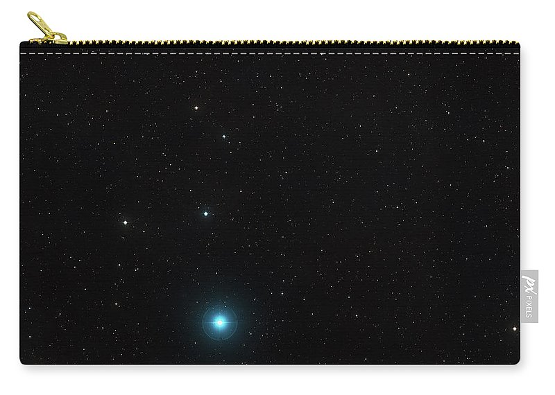 Wide-field View Of The Sky Around The Most Remote Quasar Carry-all Pouch featuring the photograph Wide-field View Of The Sky Around The Most Remote Quasar by New Digital Museum
