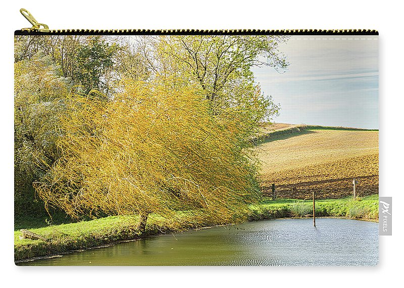 Wind Carry-all Pouch featuring the photograph Wind In The Willow by Michael Briley
