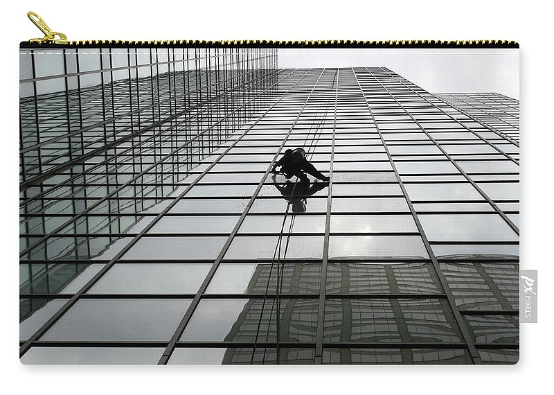 Working Carry-all Pouch featuring the photograph Window Washer by Filo