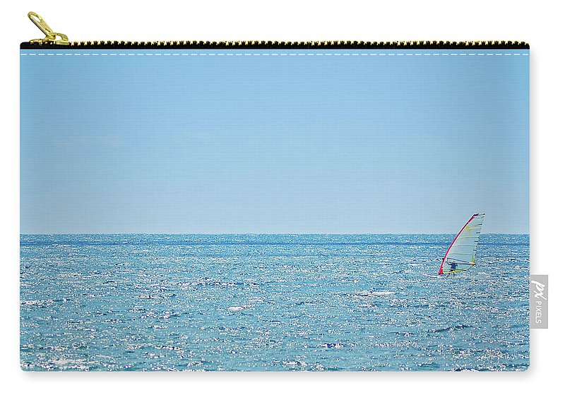Adriatic Sea Carry-all Pouch featuring the photograph Windsurfer In Action by Itchysan