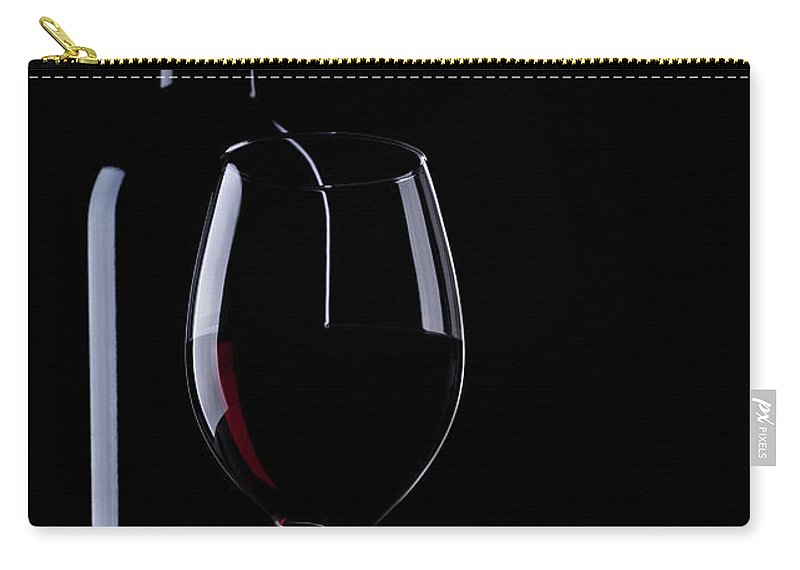 Curve Carry-all Pouch featuring the photograph Wine Bottle And Glass by Portishead1