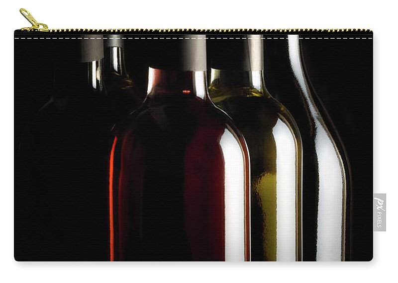 Rose Wine Carry-all Pouch featuring the photograph Wine Bottles by Carlosalvarez