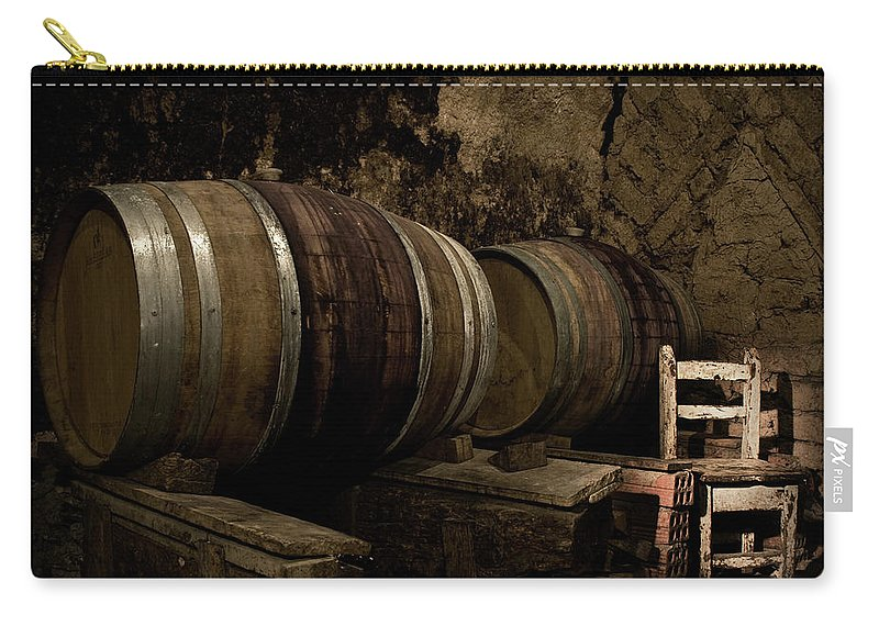 Fermenting Carry-all Pouch featuring the photograph Wine Cellar by Fotografias De Rodolfo Velasco