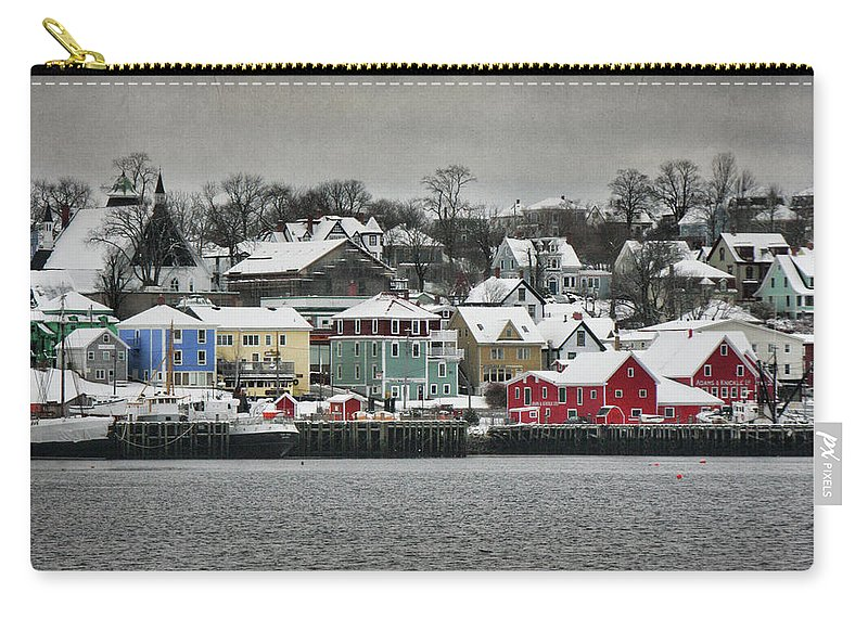 Snow Carry-all Pouch featuring the photograph Winter In Lunenburg by Amanda White