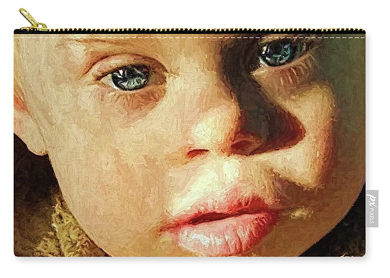 Boy Carry-all Pouch featuring the digital art Winter's Glow by Rick Wiles