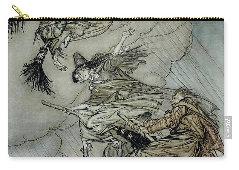 Arthur Rackham Carry-all Pouch featuring the painting Witches, 1907 by Arthur Rackham