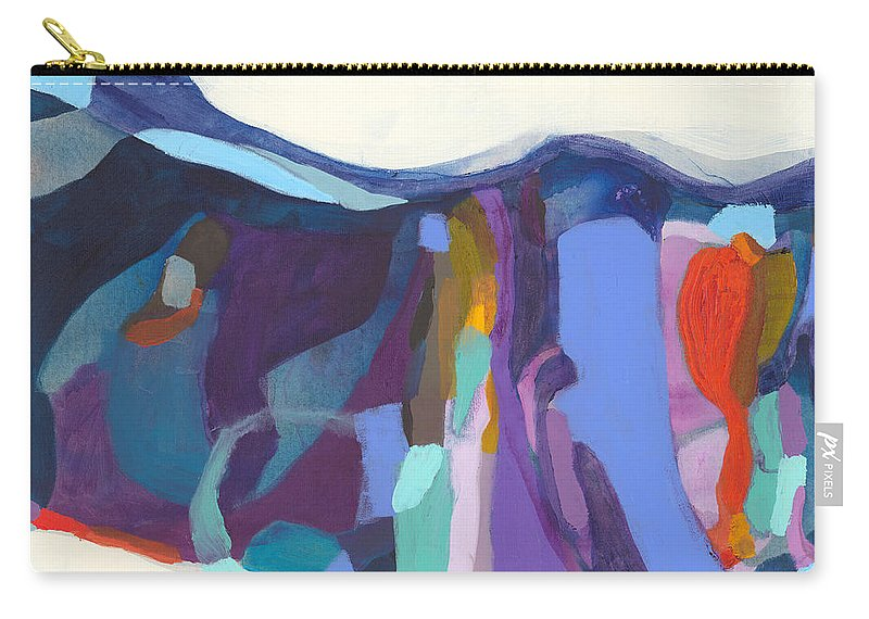 Abstract Carry-all Pouch featuring the painting With Grace by Claire Desjardins