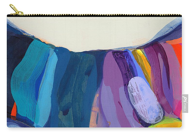 Abstract Carry-all Pouch featuring the painting With Joy by Claire Desjardins