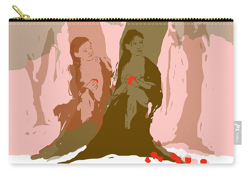 Carry-all Pouch featuring the digital art Within The Trees by Michael Shipman