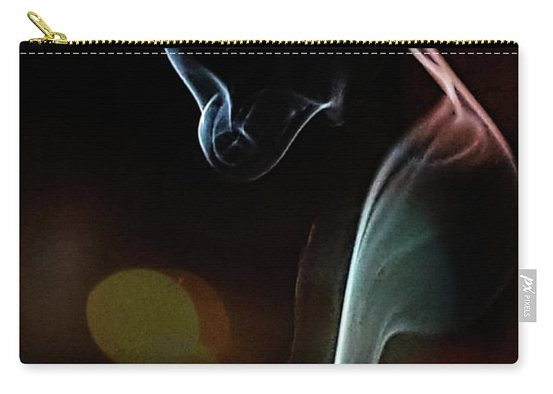 Smokeart Carry-all Pouch featuring the photograph Wolf Cub - Smoke Photography by Barry W King
