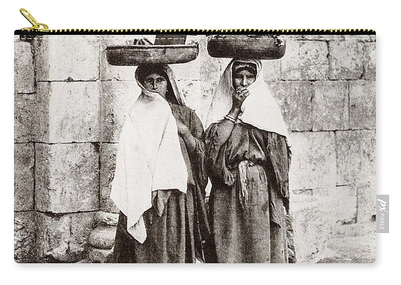 Women Carry-all Pouch featuring the photograph Women From Siloan In Jerusalem by Munir Alawi
