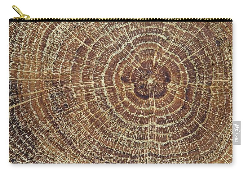 Material Carry-all Pouch featuring the photograph Wood Cross-section Background by Kalasek