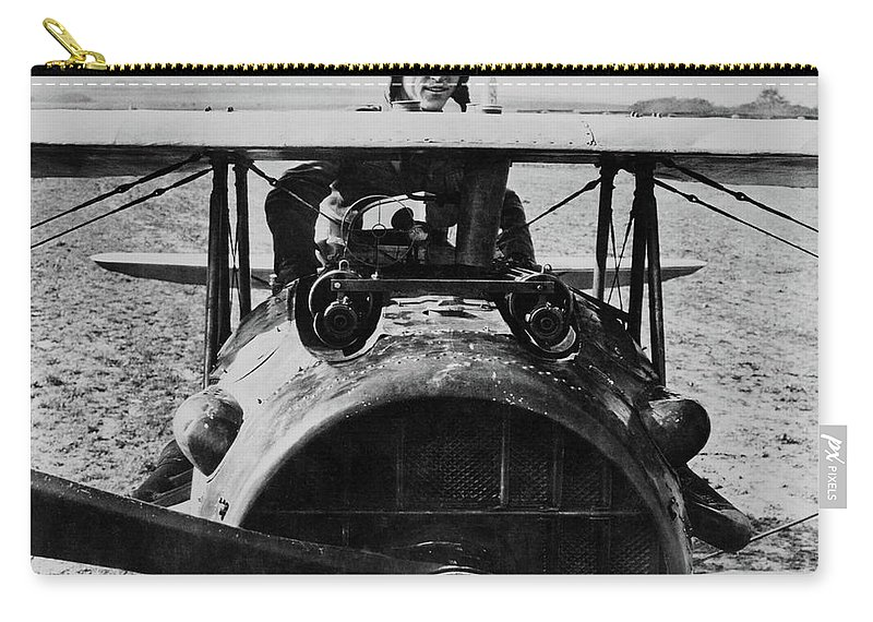 Eddie Rickenbacker Carry-all Pouch featuring the photograph World War I Ace Captain Eddie Rickenbacker by Imperial War Museums