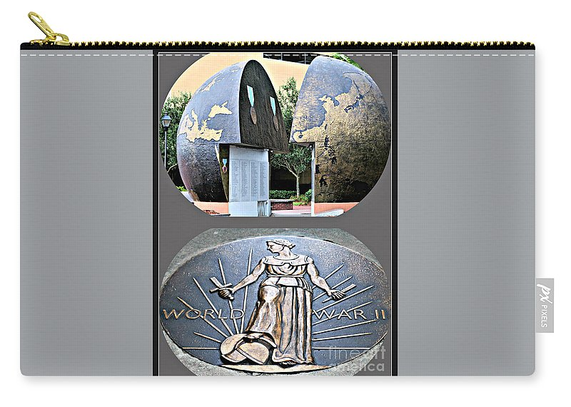 Wwii Memorial Carry-all Pouch featuring the photograph World War 2 Memorial Savannah by Diann Fisher