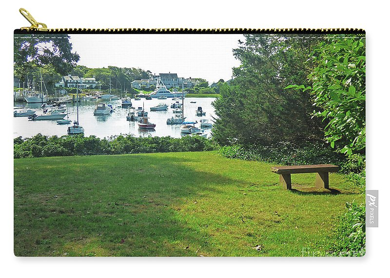 Landscape Carry-all Pouch featuring the photograph Wychmere Harbor Cape Cod Morning by Sharon Eng