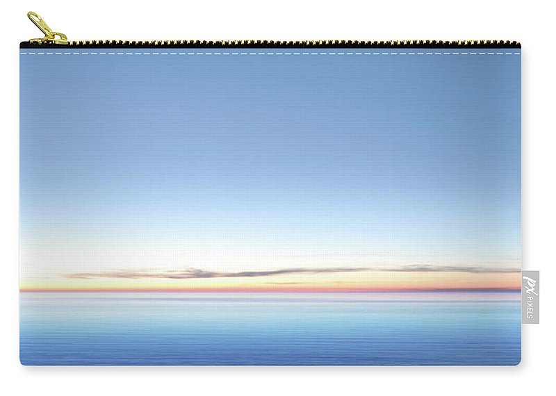 Lake Michigan Carry-all Pouch featuring the photograph Xxl Serene Twilight Lake by Sharply done