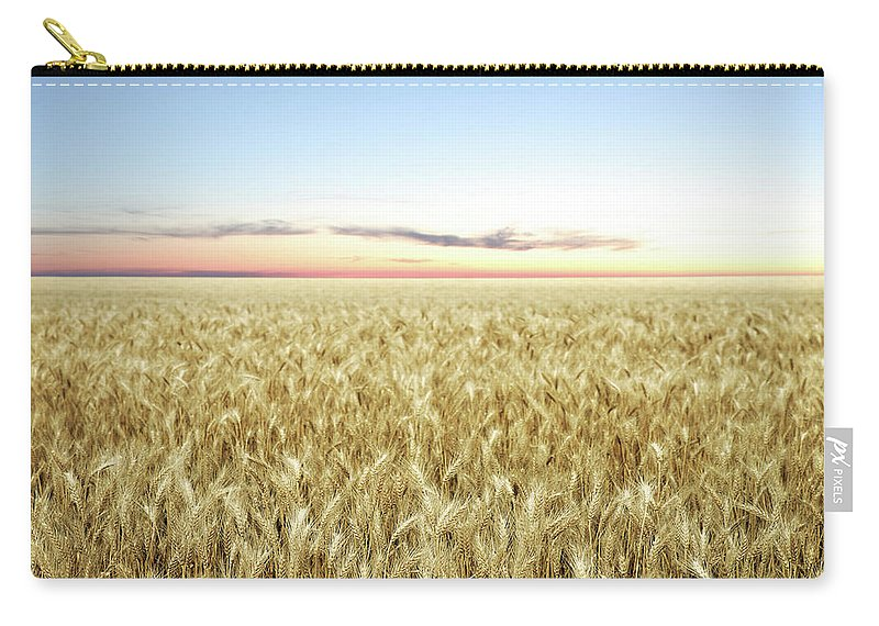 Scenics Carry-all Pouch featuring the photograph Xxl Wheat Field Twilight by Sharply done