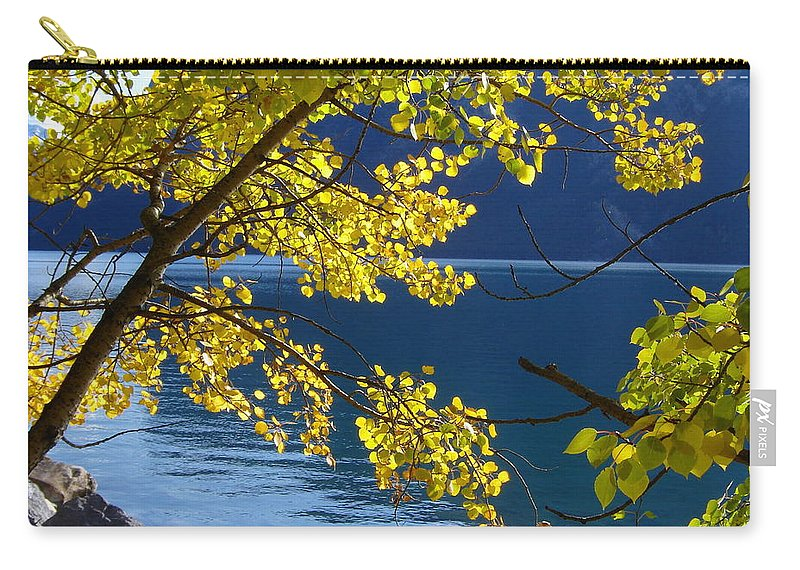 Yellow Carry-all Pouch featuring the photograph Yellow Leaves by Norman Burnham