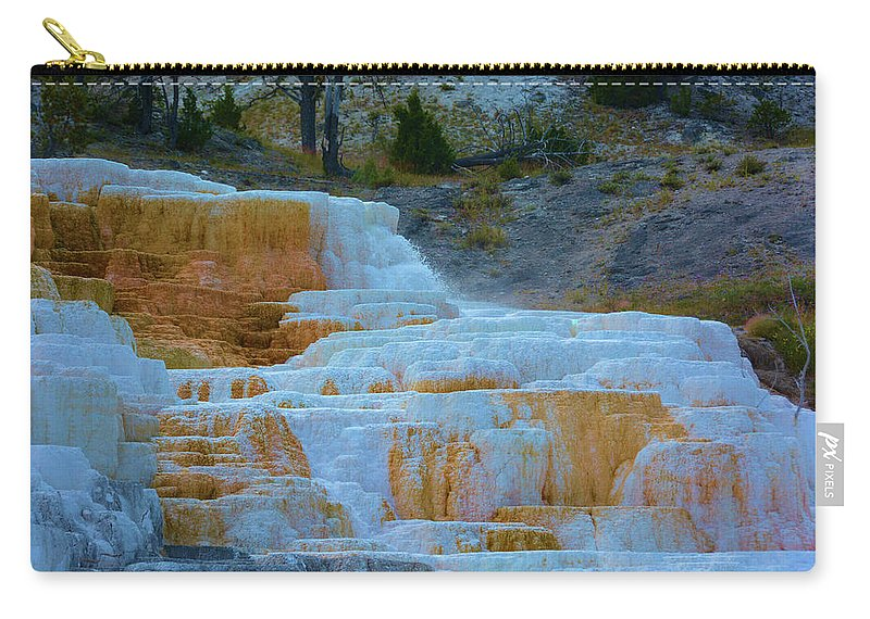 Nature Carry-all Pouch featuring the photograph Yellowstone Mineral Deposits by Richard Jenkins