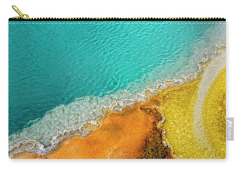 Geology Carry-all Pouch featuring the photograph Yellowstone West Thumb Thermal Pool by Bill Wight Ca