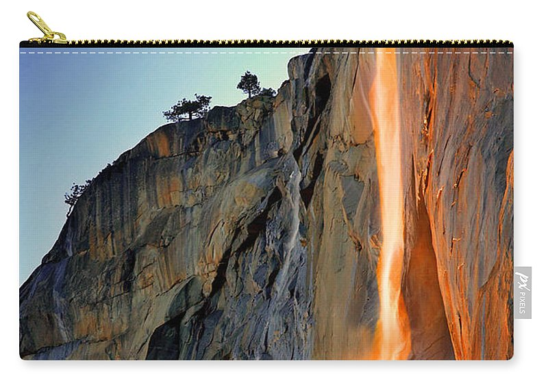 Tranquility Carry-all Pouch featuring the photograph Yosemite Firefall by Provided By Jp2pix.com
