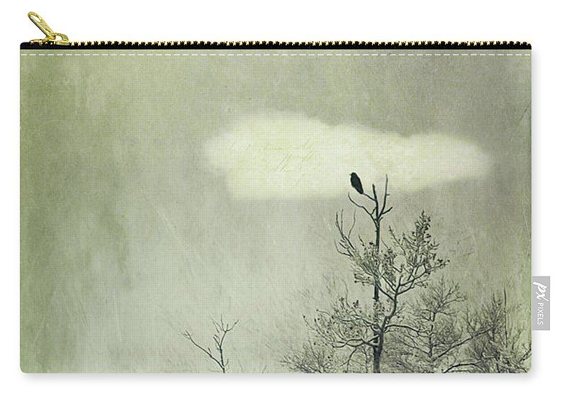 Gloom Carry-all Pouch featuring the photograph You Are Not Here by Priska Wettstein