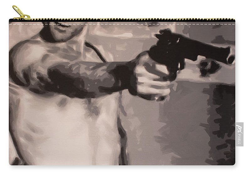 Taxi Driver Carry-all Pouch featuring the painting You Talkin To Me? by Sarah Hood