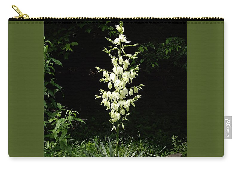 Yucca Carry-all Pouch featuring the photograph Yucca Blossoms by Nancy Ayanna Wyatt
