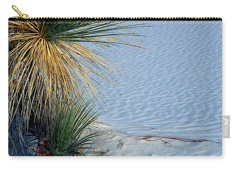 Background Carry-all Pouch featuring the photograph Yucca Plant In Rippled Sand Dunes In White Sands National Monument, New Mexico - Newm500 00113 by Kevin Russell