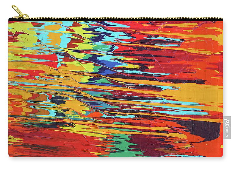 Fusionart Carry-all Pouch featuring the painting Zap by Ralph White