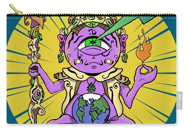 Buddhist Carry-all Pouch featuring the digital art Zen by Sotuland Art