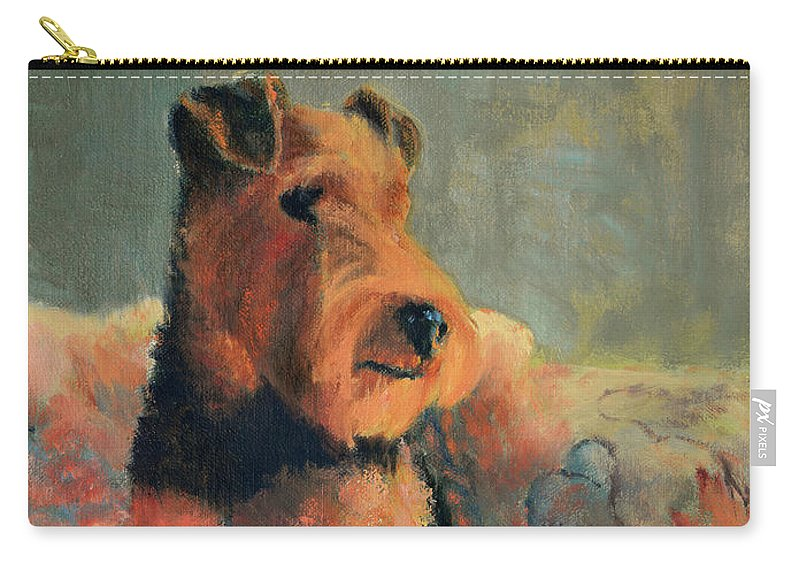 Pet Carry-all Pouch featuring the painting Zuzu by Keith Burgess