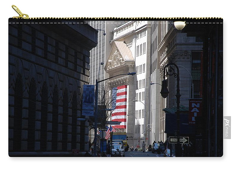 Wall Street Carry-all Pouch featuring the photograph Rise And Fall Of America Avenue by Rob Hans