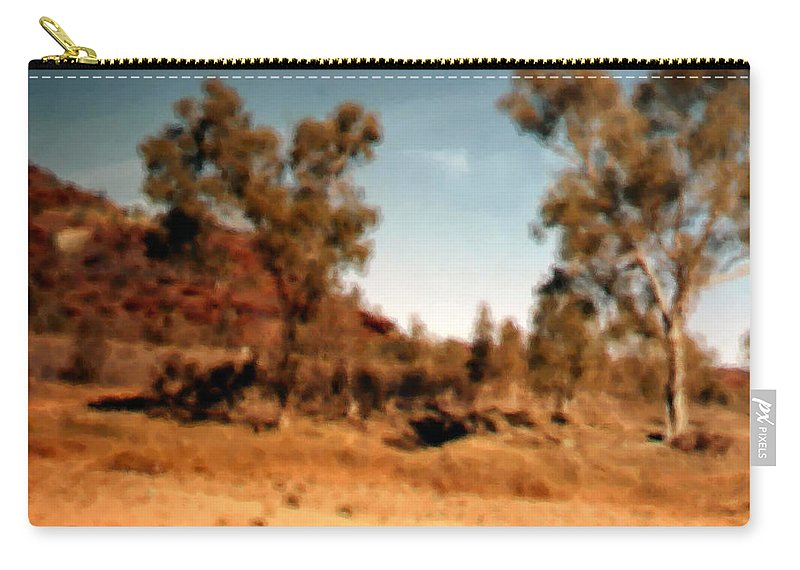 Daintree Australia Carry-all Pouch featuring the mixed media Daintree Australia by Asbjorn Lonvig